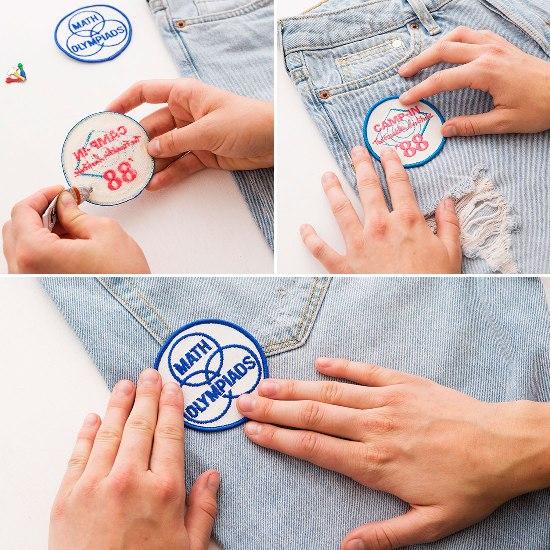 Как обновить джинсы, используя клей