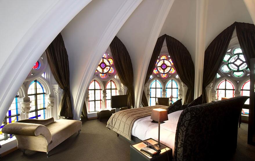 4-хзвездочный отель в церкви – «Martin's Patershof Church Hotel», Мехелен, Бельгия - комната