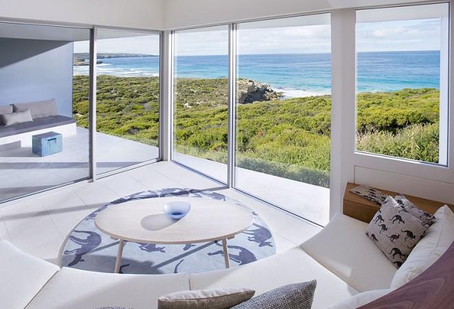 5-тизвездочный Южноокеанический лодж на острове Кенгуру В Австралии (The Southern Ocean Lodge) - вид из номера