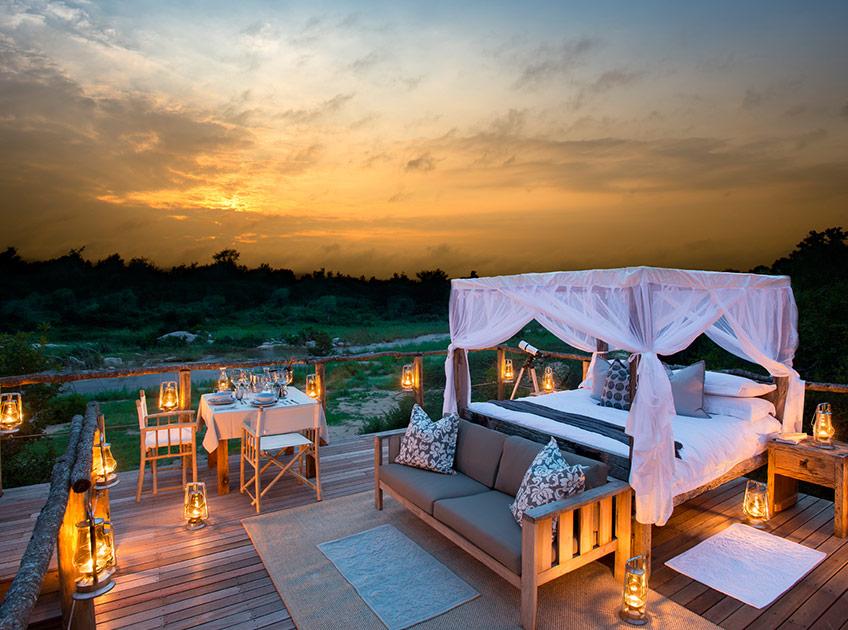 Открытый номер на дереве в «Kingston Treehouse», Львиные пески (Lion Sands), Южная Африка