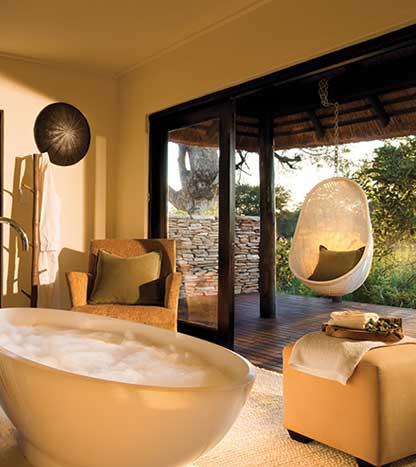 Ванная в номере - отель в Львиных песках (Lion Sands), Южная Африка
