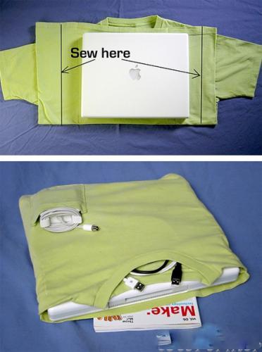 самодельный чехол для ноутбука из и в виде футболки