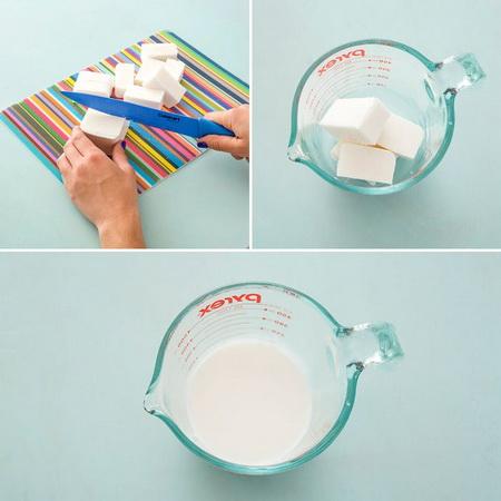Как сварить мыло с фигурными слоями?