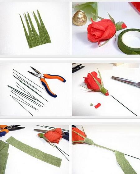 Как сделать розы для букета из конфет?