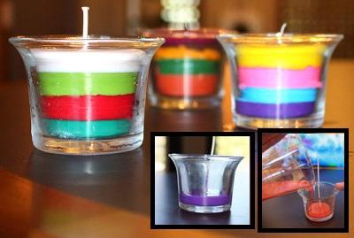 Как сделать свечи из восковых карандашей