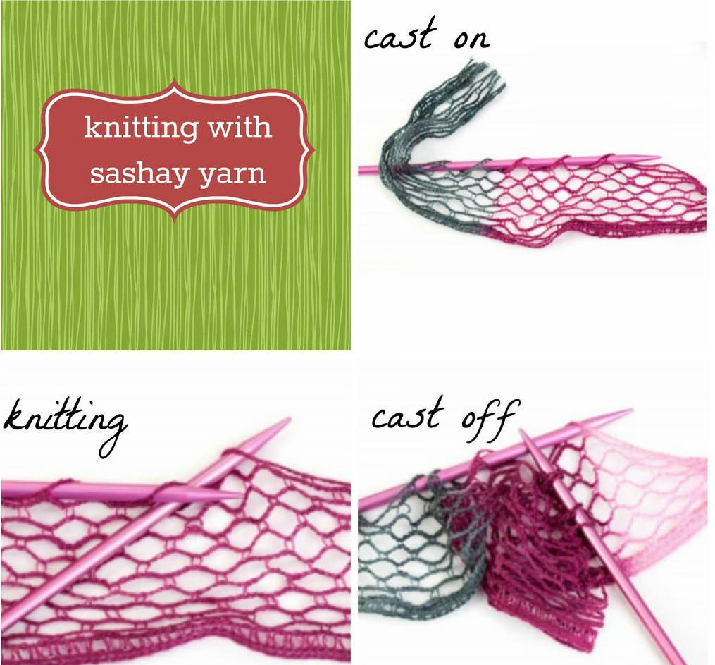 схема вязания шарфика воланами из пряжи-сетки