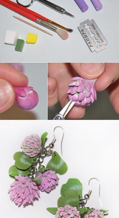 Как сделать простые цветы из полимерной глины