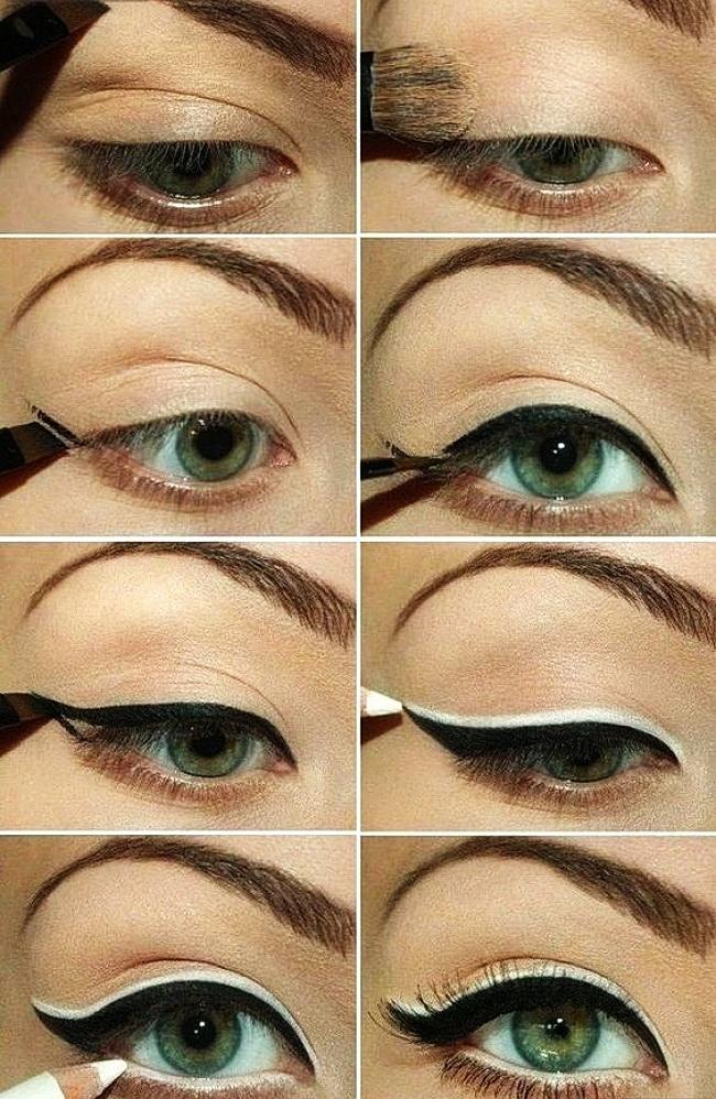 Стрелки тенями на глазах пошаговая инструкция