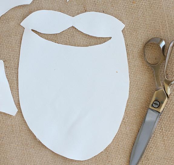 Как сделать бороду Деда Мороза для детского костюма?