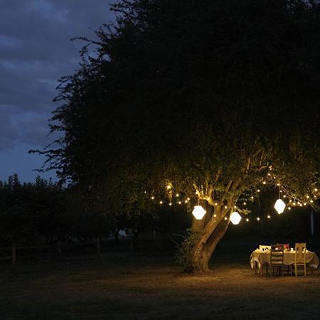 Солнечная энергия для освещения участка в ночное время