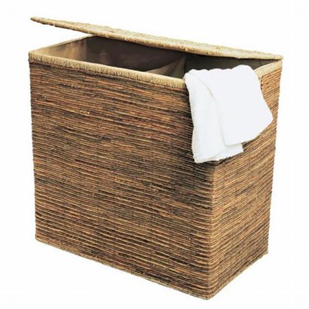 Вместо обычной поставьте плетеную корзину для белья