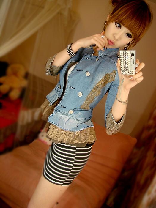 тренд на декорированную джинсу: кружево и баска
