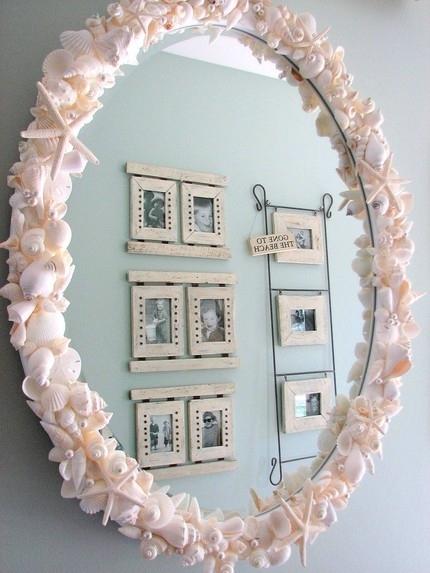 Как красиво украсить зеркало своими руками
