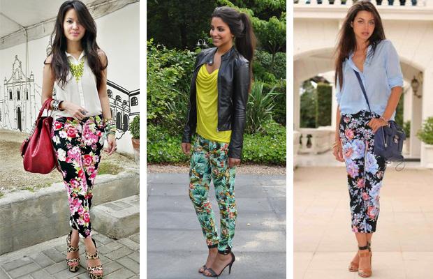 Как и с чем носить брюки с цветочным принтом