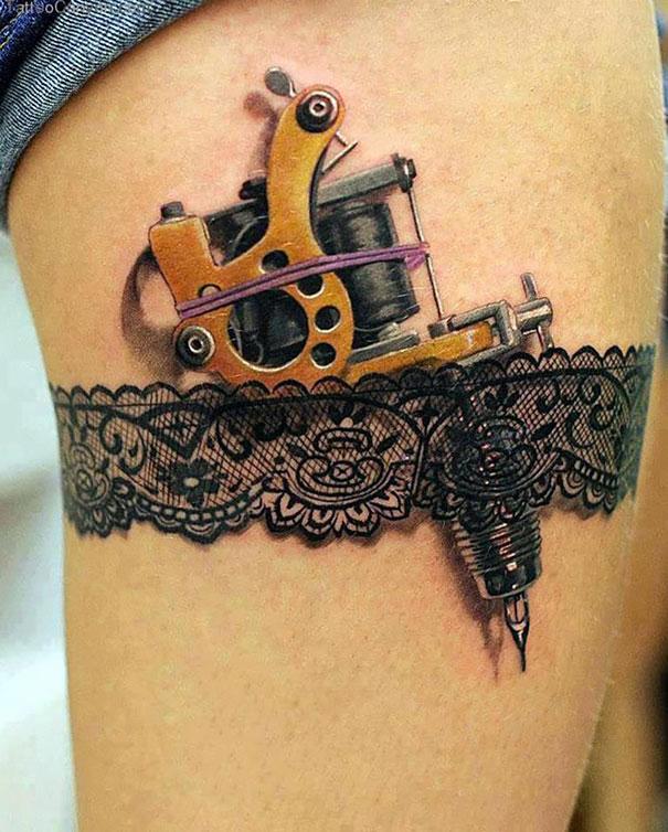 3D (объемные) и фото-татуировки: пистолет для татуировок под подвязкой