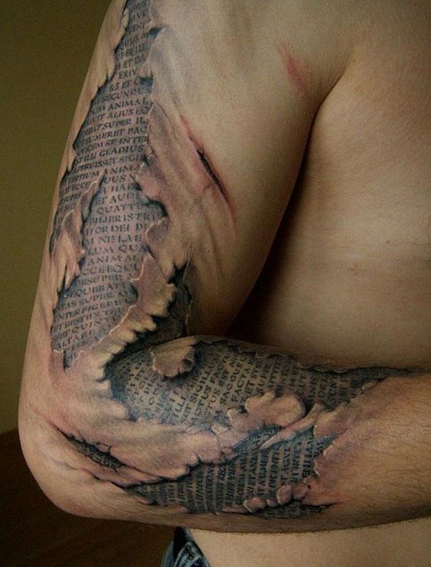3D (объемные) и фото-татуировки: газета под кожей