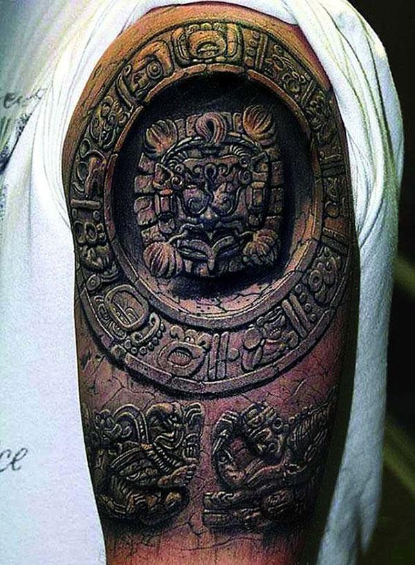 3D (объемные) и фото-татуировки: майя