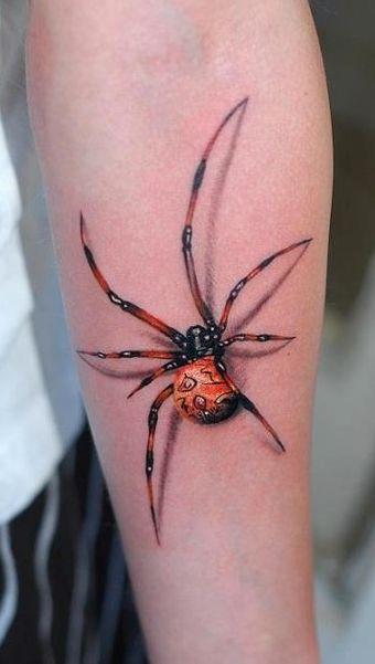 3D (объемные) и фото-татуировки: паук