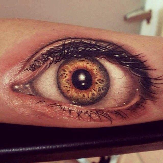 3D (объемные) и фото-татуировки: глаз девушки