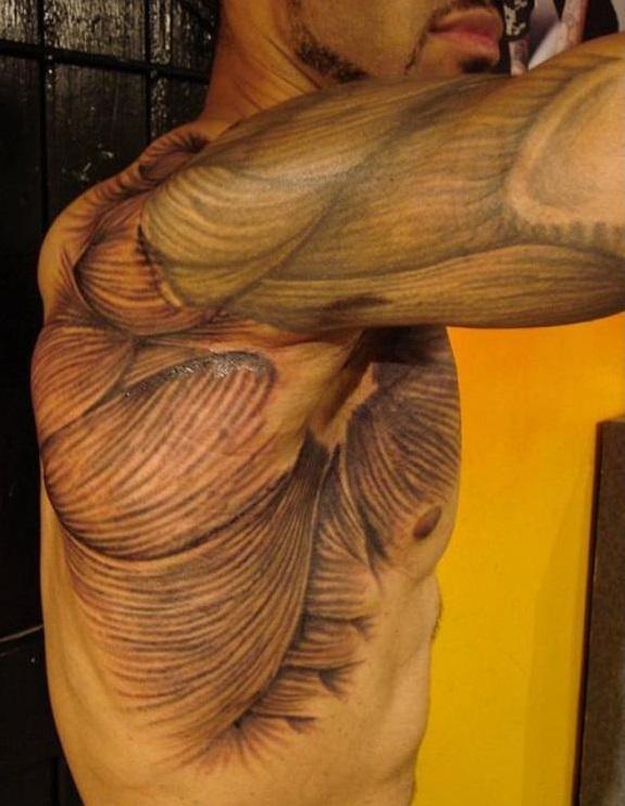 3D (объемные) и фото-татуировки: мышцы