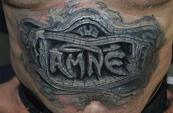 3D (объемные) и фото-татуировки: резьба по камню