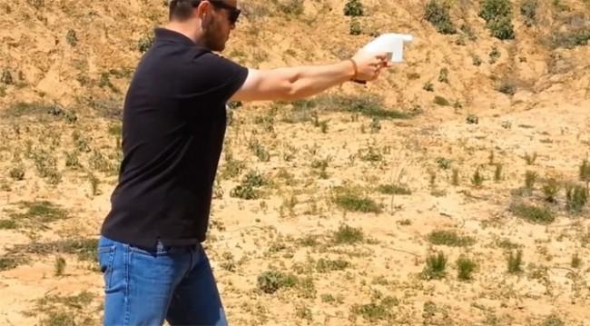 пистолет, распечатанный на 3D принтере