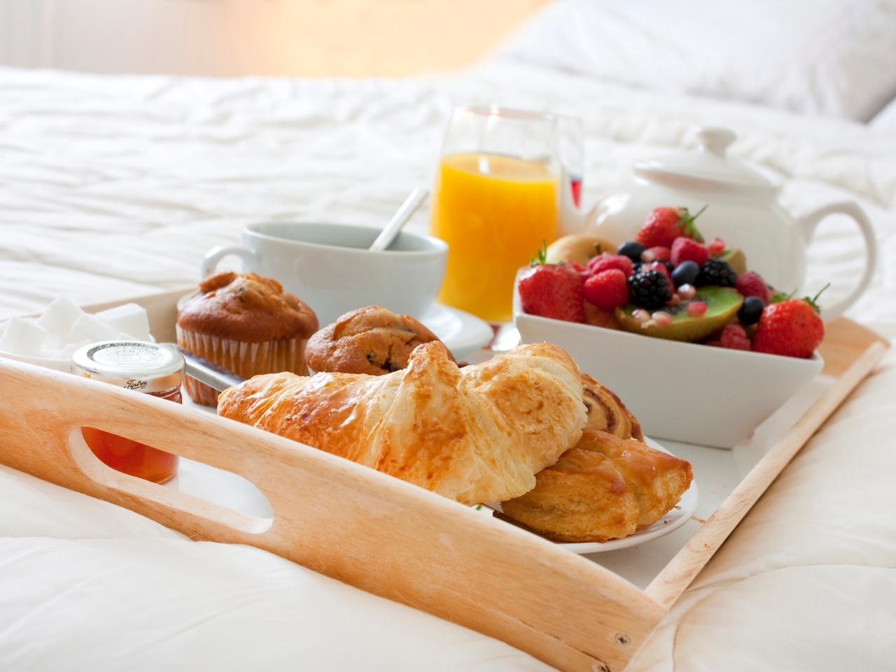 завтрак в кровать