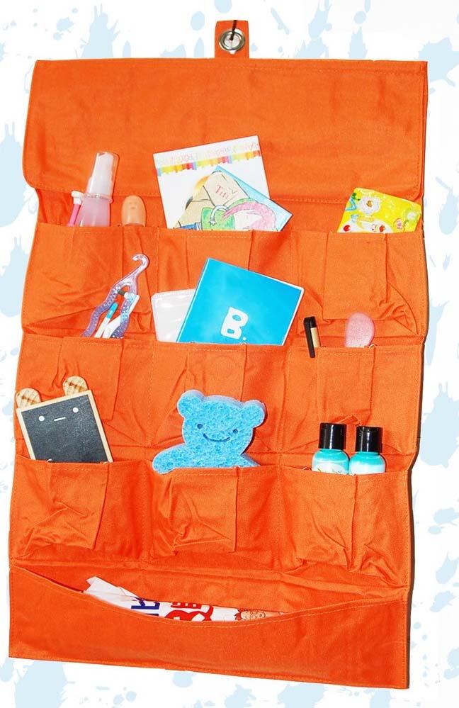 оранжевый Фартук с кармашками для хранения
