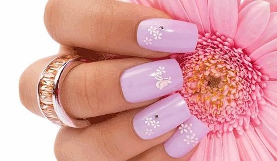 рисунки на ногтях цветы
