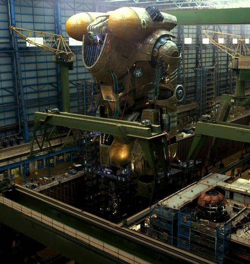 Тихоокеанский рубеж строительство огромного робота для съемок