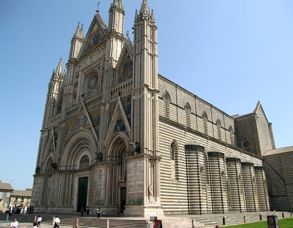 Орвието, город Италия Кафедральный собор Il Duomo di Orvieto