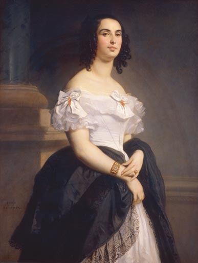 портрет Адели Гюго – дочери знаменитого писателя Виктора Гюго