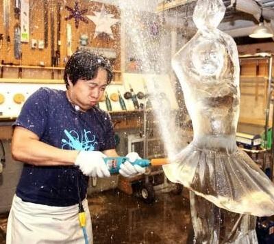 Как сделать скульптуру из льда