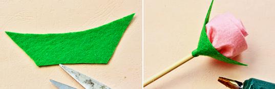 Как сделать оригинальный букет цветов из фетра