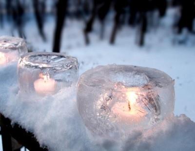 Как сделать свечу из льда