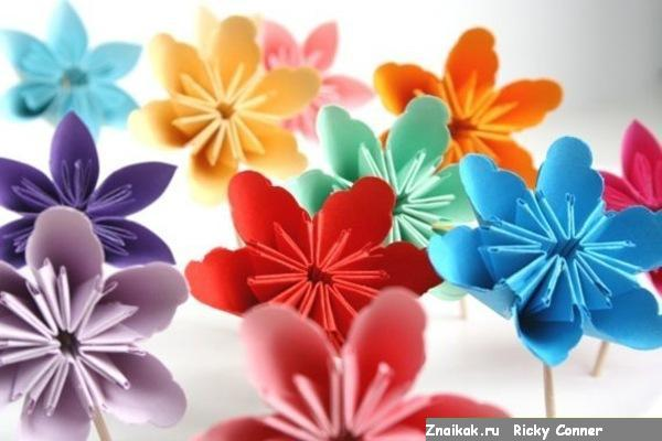 """Как сделать """"Камфорный шар"""" Оригами-цветок"""