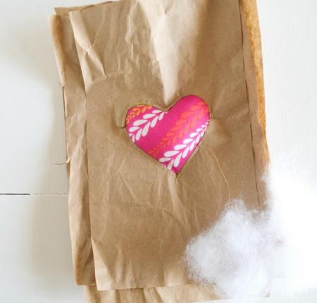 Как быстро сделать самую простую мягкую валентинку?