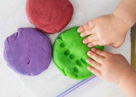 детские поделки из разноцветного теста