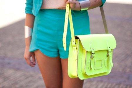 модная зеленая салатовая сумка для лета 2013