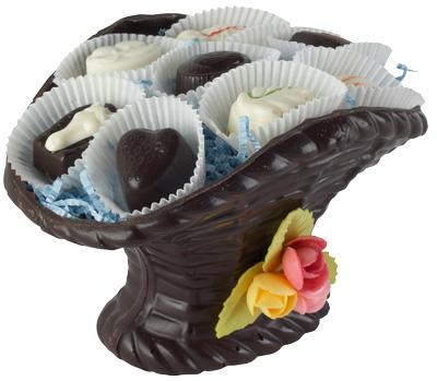 Корзина с ее любимыми конфетами