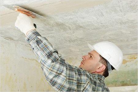 Как заделать трещины в потолке