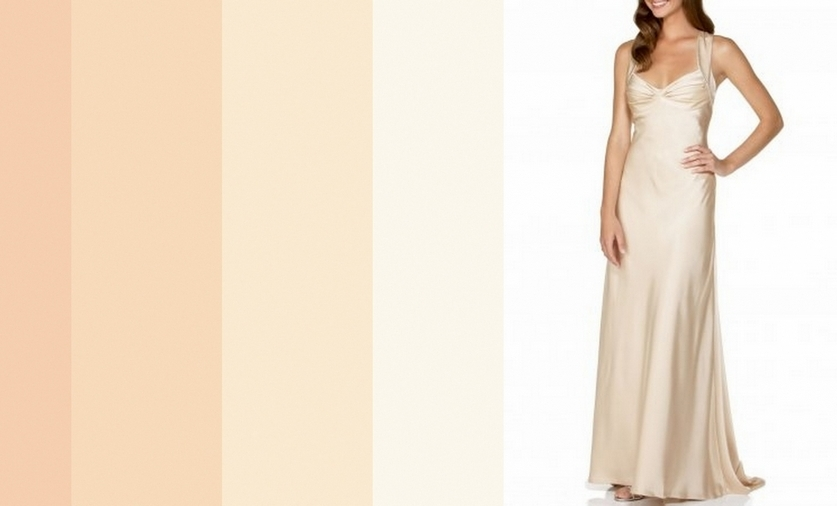 Платье цвета яичной скорлупы