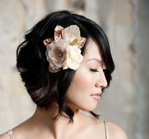 Как подобрать свадебную прическу девушкам с короткими волосами