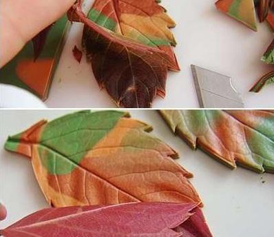 Как сделать листья из полимерной глины