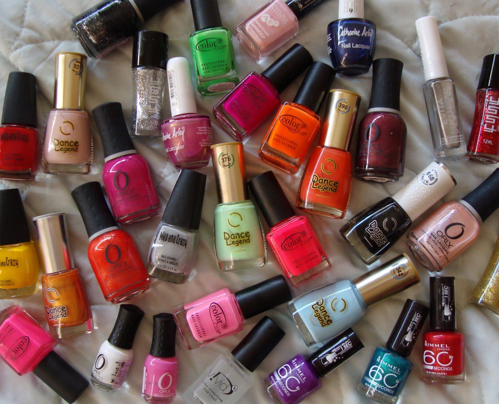 цветные лаки для ногтей