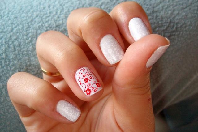 рисунки на ногтях иголкой узоры орнамент цветы маникюр в домашних условиях