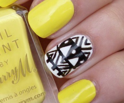 Как сделать нейл-арт в желтых тонах