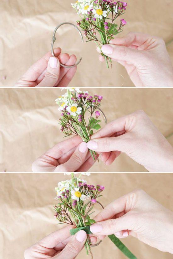 Как сделать декоративные кольца для салфеток в весенней стилистике