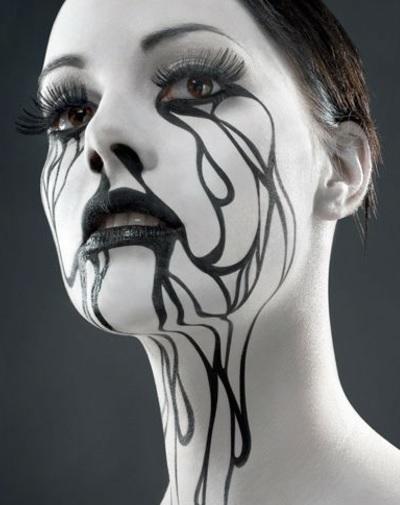Как сделать небанальный макияж на Хэллоуин для девушки