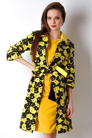 пальто с цветочными принтами